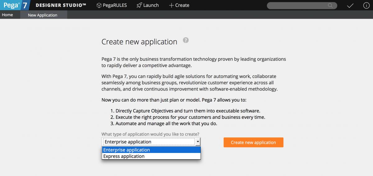 pega-create-application