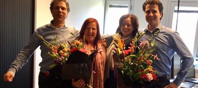 Berthie en Rhelinde worden in het zonnetje gezet op Nationale secretaressedag