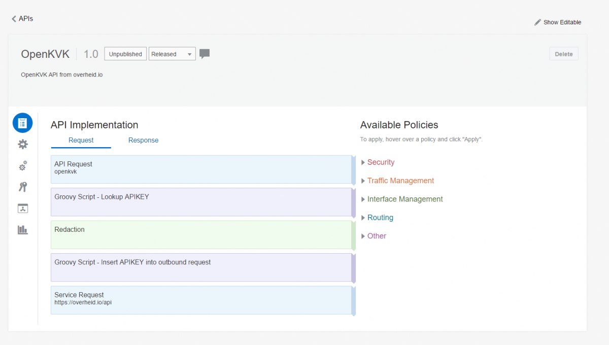 My first experience with Oracle API Platform Cloud Service - part 2