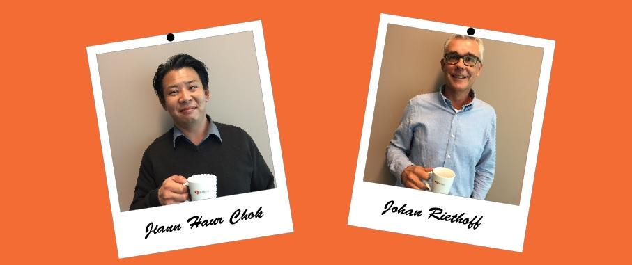Welkom Jiann en Johan