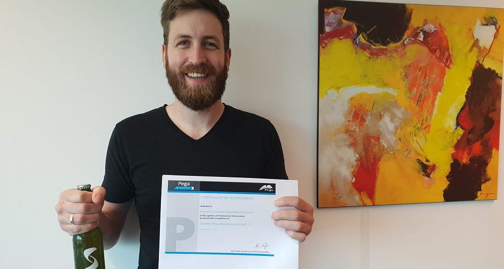 Bernd haalt zijn 2e Pega Certificaat!